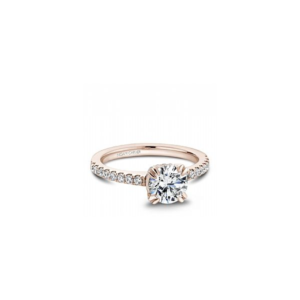 Rose Gold 3/8 ctw Fancy Crown Engagement Ring The Ring Austin Round Rock, TX