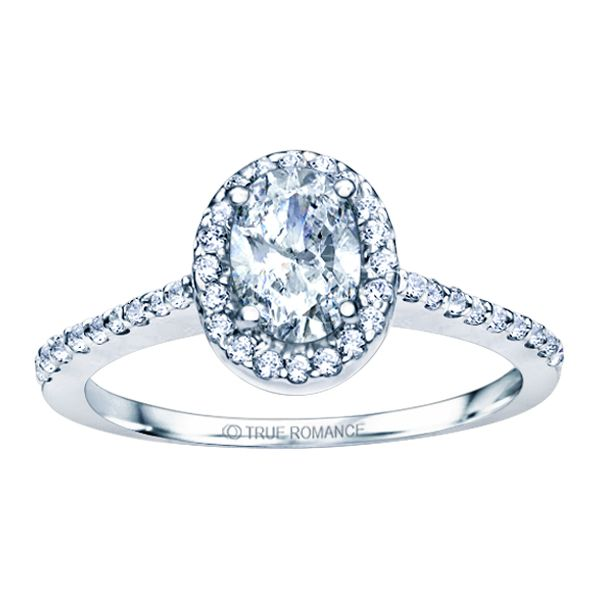 14k WG Pear Halo Diamond Engagement Ring The Ring Austin Round Rock, TX