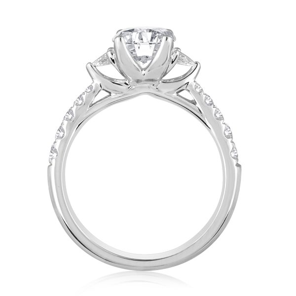Round and Pear Shape Pave Engagement Semi Mount 3/8ctw Image 2 The Ring Austin Round Rock, TX