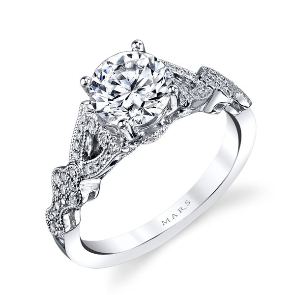 14k White Gold Semi Mount 1/6ctw Image 2 The Ring Austin Round Rock, TX