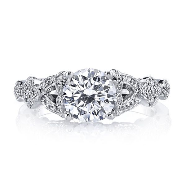 14k White Gold Semi Mount 1/6ctw The Ring Austin Round Rock, TX