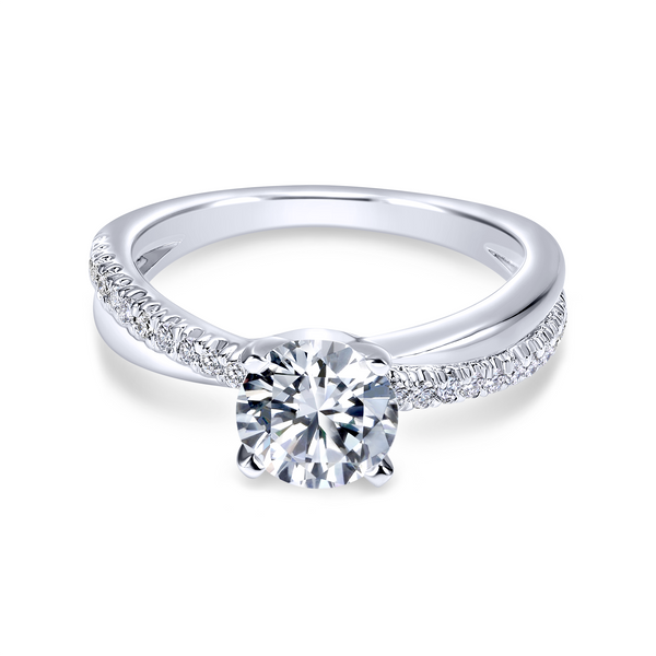 Elegant crisscrossing band with an array of diamonds Image 2 The Ring Austin Round Rock, TX