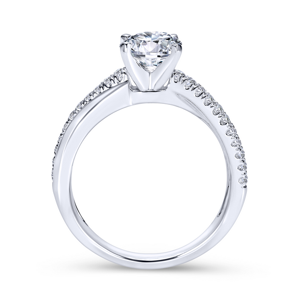 Elegant crisscrossing band with an array of diamonds Image 3 The Ring Austin Round Rock, TX