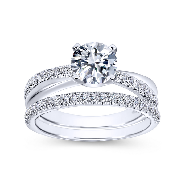Elegant crisscrossing band with an array of diamonds Image 4 The Ring Austin Round Rock, TX