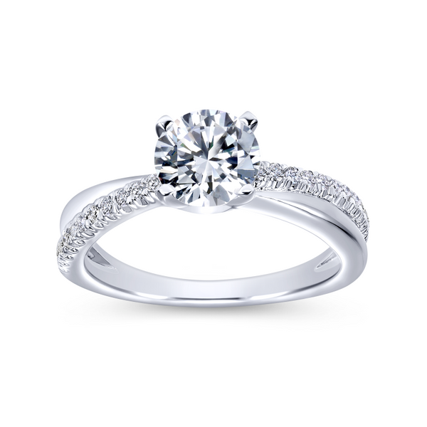 Elegant crisscrossing band with an array of diamonds Image 5 The Ring Austin Round Rock, TX