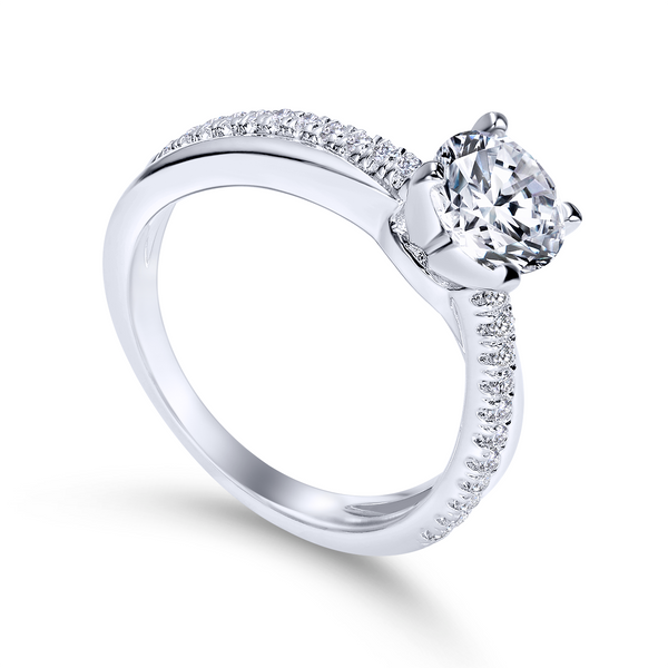Elegant crisscrossing band with an array of diamonds The Ring Austin Round Rock, TX