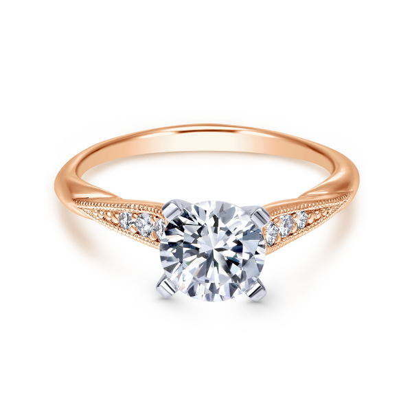 Tapered strings of graduated diamonds adorn the shoulders of a slim white gold band Image 2 The Ring Austin Round Rock, TX