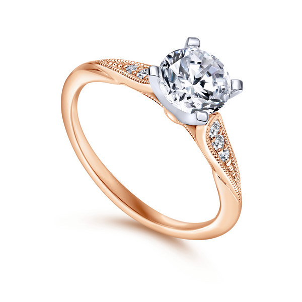 Tapered strings of graduated diamonds adorn the shoulders of a slim white gold band The Ring Austin Round Rock, TX