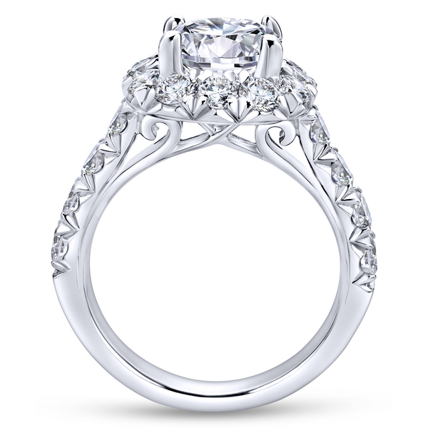 14k White Gold Round Halo Diamond Engagement Ring Image 3 The Ring Austin Round Rock, TX