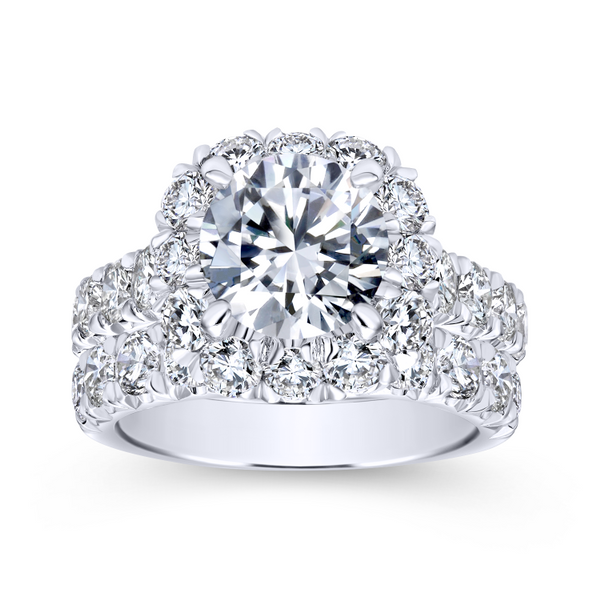 14k White Gold Round Halo Diamond Engagement Ring Image 4 The Ring Austin Round Rock, TX
