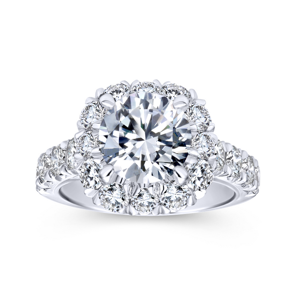 14k White Gold Round Halo Diamond Engagement Ring Image 5 The Ring Austin Round Rock, TX