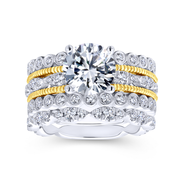 14k Yellow/white Gold Round Straight Diamond Engagement Ring Image 4 The Ring Austin Round Rock, TX