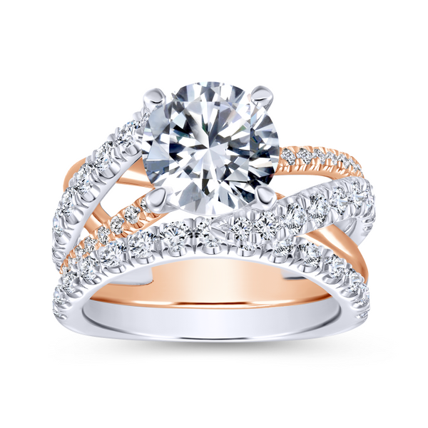 14K Rose Gold Freeform Bypass Ring