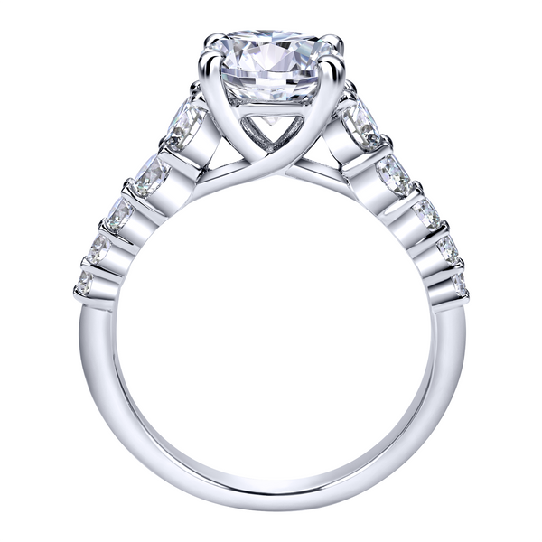 14k White Gold Round Straight Diamond Engagement Ring Image 3 The Ring Austin Round Rock, TX