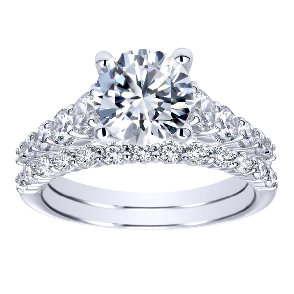 14k White Gold Round Straight Diamond Engagement Ring Image 4 The Ring Austin Round Rock, TX
