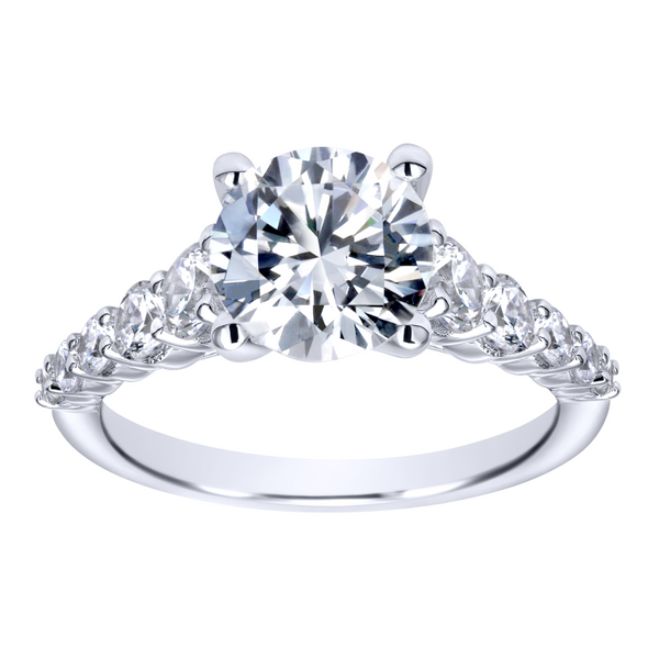 14k White Gold Round Straight Diamond Engagement Ring Image 5 The Ring Austin Round Rock, TX
