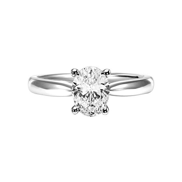 14k WG Oval Polished Diamond Engagement Ring The Ring Austin Round Rock, TX