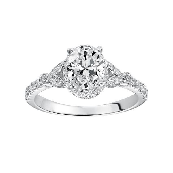 14k WG Oval Halo Diamond Engagement Ring The Ring Austin Round Rock, TX