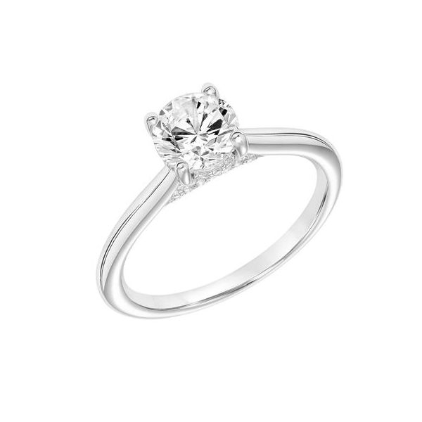 14k WG Round Diamond Engagement Ring The Ring Austin Round Rock, TX