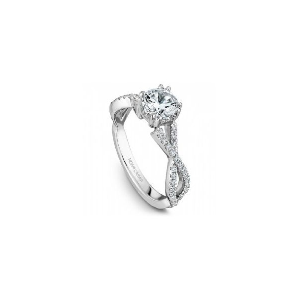 14K WG Twisted Band Engagement Ring Image 2 The Ring Austin Round Rock, TX