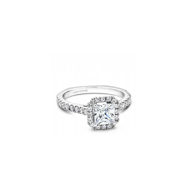 1/2 ctw Princess Cut Halo Engagement Ring Image 2 The Ring Austin Round Rock, TX