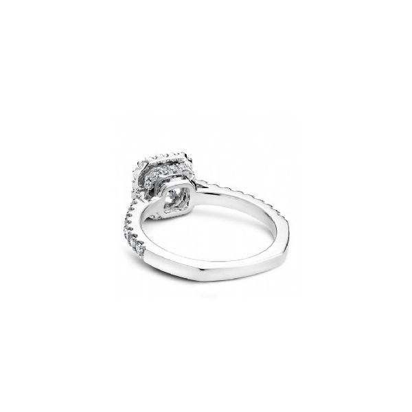1/2 ctw Princess Cut Halo Engagement Ring Image 3 The Ring Austin Round Rock, TX