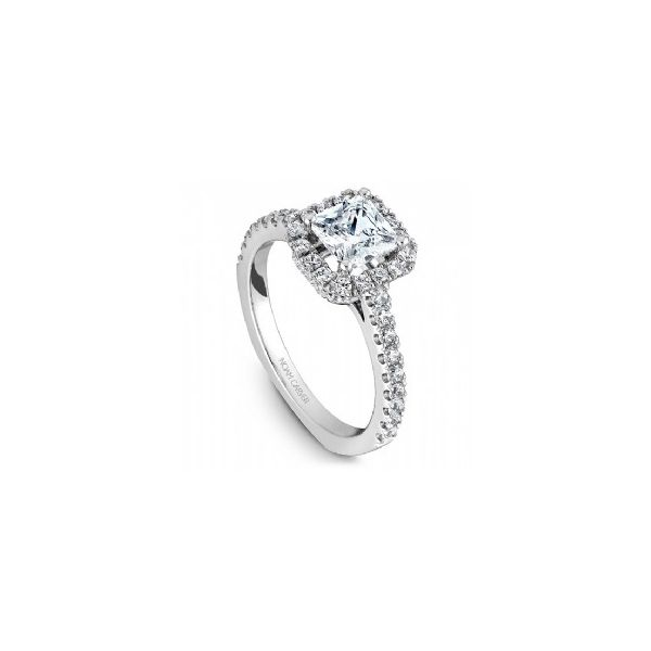 1/2 ctw Princess Cut Halo Engagement Ring The Ring Austin Round Rock, TX