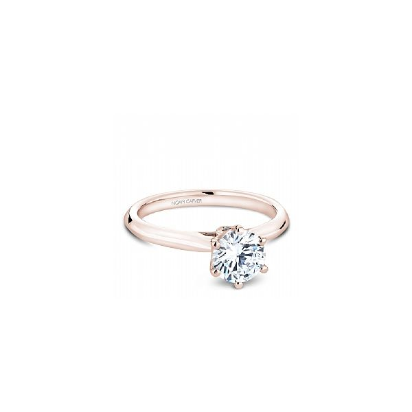RG 6 Prong Crown with Peek-a-Boo Diamond Engagement Ring The Ring Austin Round Rock, TX