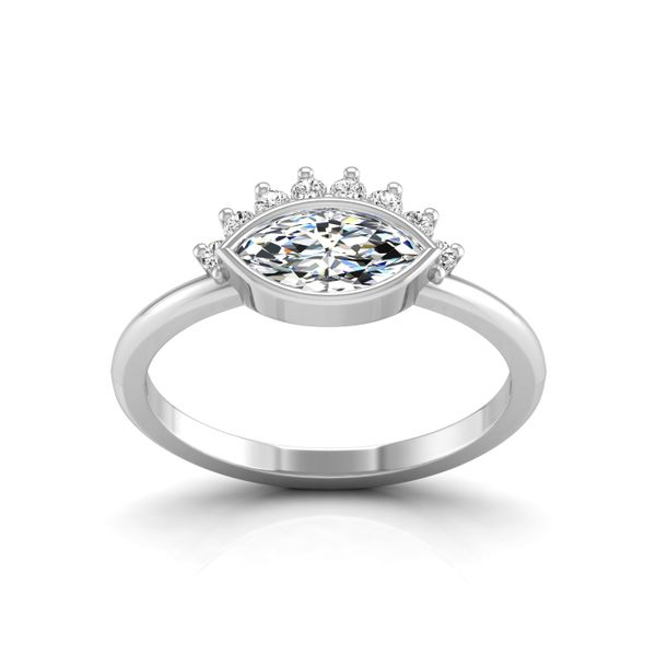 14k WG Marquis Diamond Engagement Ring The Ring Austin Round Rock, TX