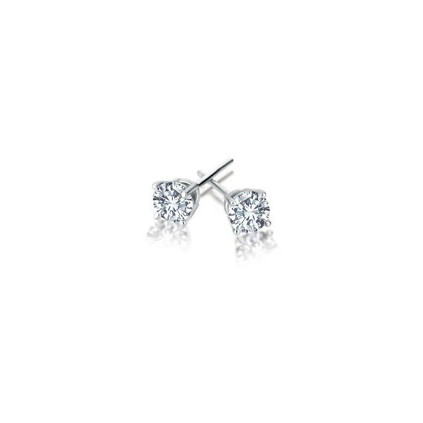 1 1/4ctw Lab Grown Round Diamond Stud Earrings SI2 The Ring Austin Round Rock, TX