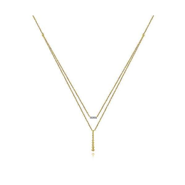 14kt YG Double Layered Bar Necklace The Ring Austin Round Rock, TX