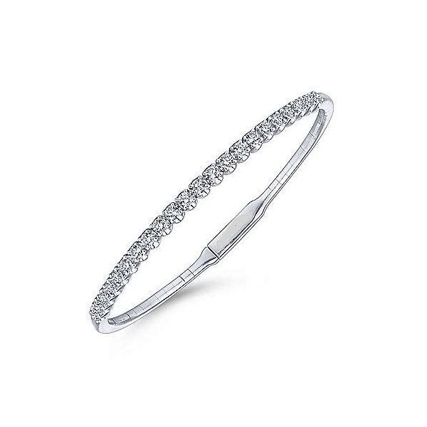 14kt WG Hinged Bangle with Diamonds 1ctw The Ring Austin Round Rock, TX