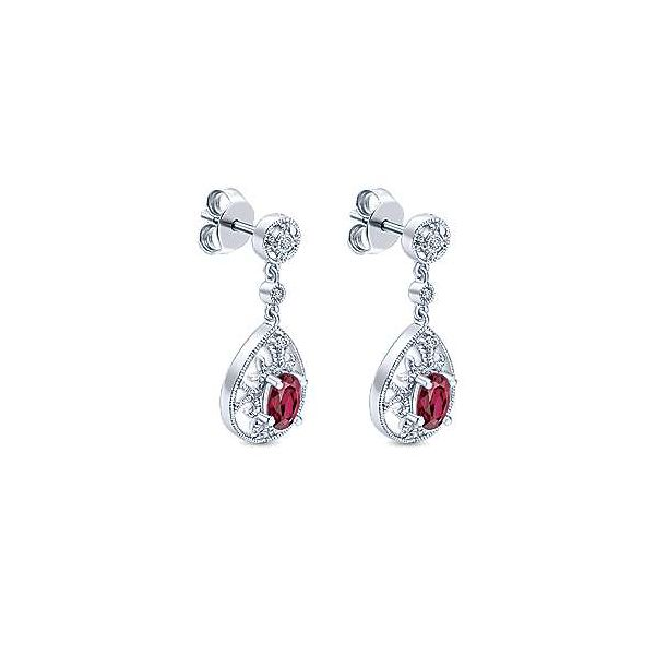 14kt WG Ruby and Diamond Drop Earrings The Ring Austin Round Rock, TX