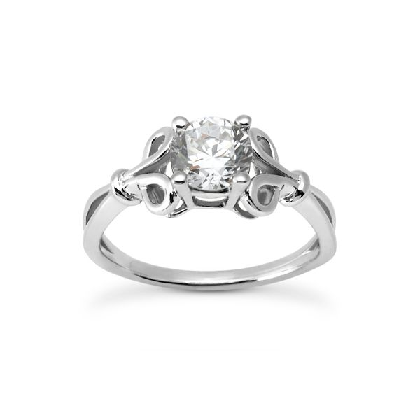 WG Solitaire Engagement Ring with Loop Design The Ring Austin Round Rock, TX