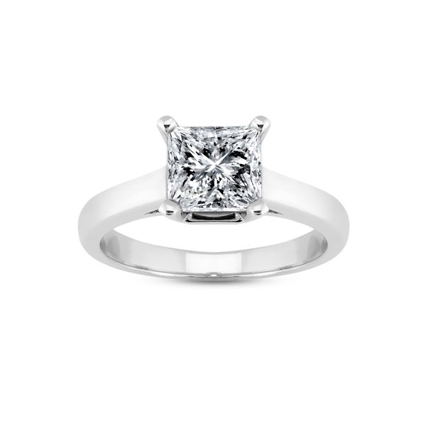 59296aff3e04c Square Stone Solitaire Engagement Ring