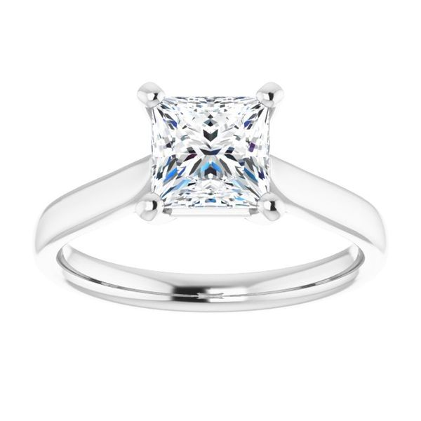 2fd788d310c9a Square Stone Cathedral Solitaire Engagement Ring