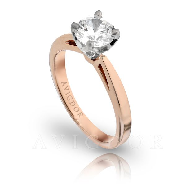 Open Tapered Shank Solitaire Engagement Ring Image 2 The Ring Austin Round Rock, TX