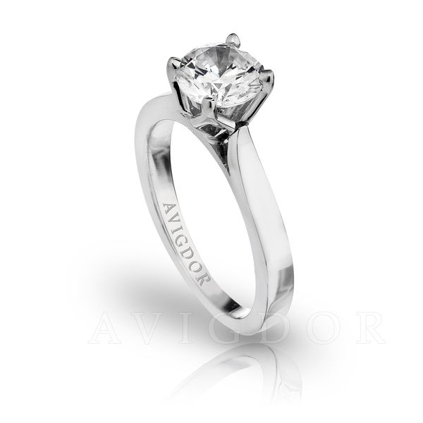 Tulip Crown Solitaire Engagement Ring Image 2 The Ring Austin Round Rock, TX