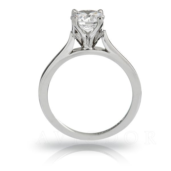 Tulip Crown Solitaire Engagement Ring Image 3 The Ring Austin Round Rock, TX