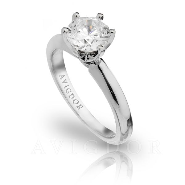 14k WG Solitaire Engagement Ring Image 2 The Ring Austin Round Rock, TX