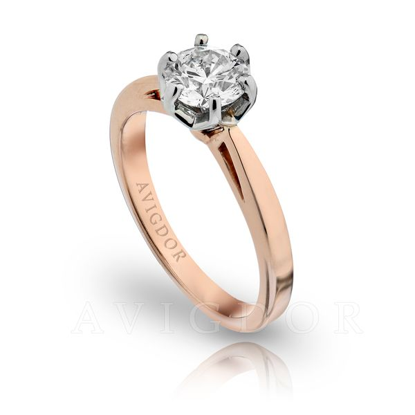 14k Rg/WG Six Prong Crown Solitaire Engagement Ring Image 2 The Ring Austin Round Rock, TX