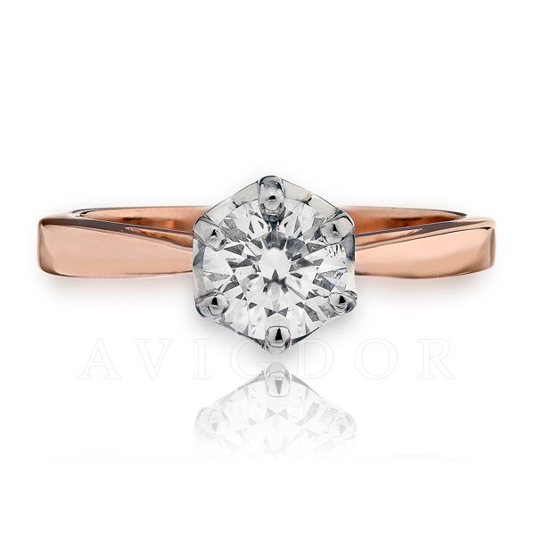14k Rg/WG Six Prong Crown Solitaire Engagement Ring The Ring Austin Round Rock, TX
