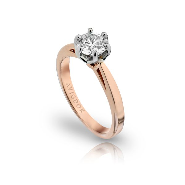 14k RG Open Shank Fancy Crown Solitaire Engagement Ring Image 2 The Ring Austin Round Rock, TX