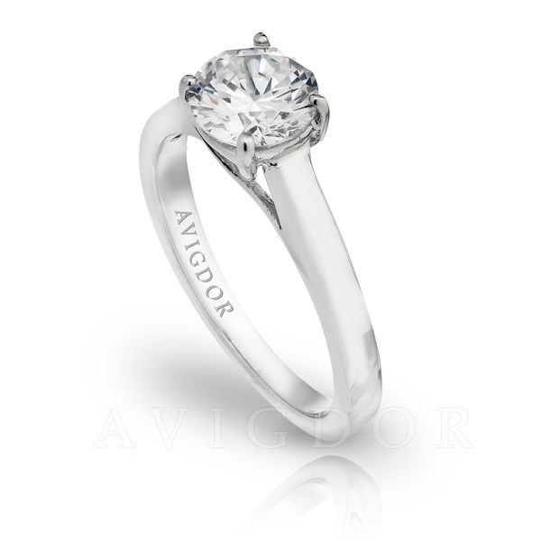 14k WG Lattice Crown Solitaire Engagement Ring Image 2 The Ring Austin Round Rock, TX