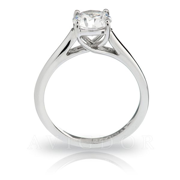 14k WG Lattice Crown Solitaire Engagement Ring Image 3 The Ring Austin Round Rock, TX