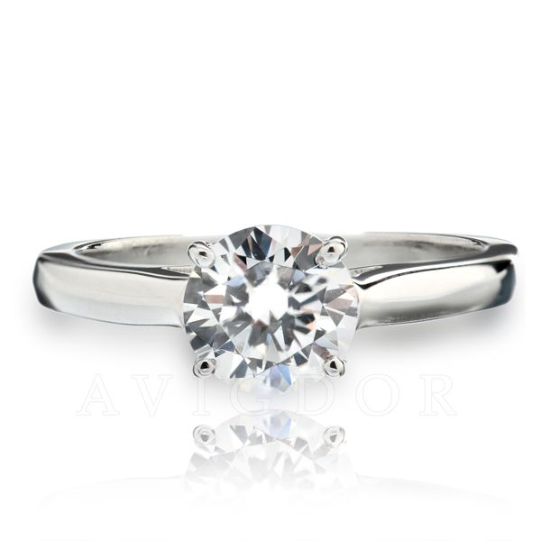 14k WG Lattice Crown Solitaire Engagement Ring The Ring Austin Round Rock, TX