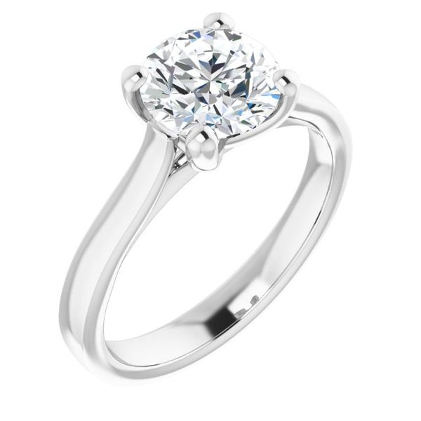 14k White Gold Solitaire Engagement Ring The Ring Austin Round Rock, TX