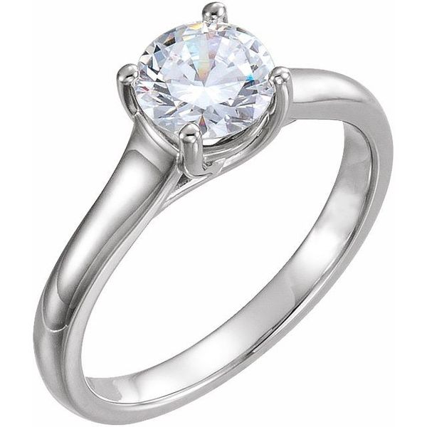 White Gold Round Solitaire Engagement Ring The Ring Austin Round Rock, TX