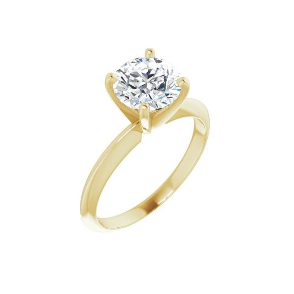 14k YG Solitaire Engagement Ring The Ring Austin Round Rock, TX
