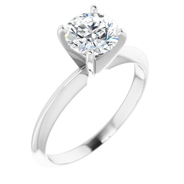 14k WG 1 1/2ct Diamond Solitaire Engagement Ring The Ring Austin Round Rock, TX